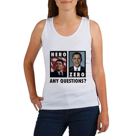 Reagan HERO, Obama ZERO. Any Women's Tank Top