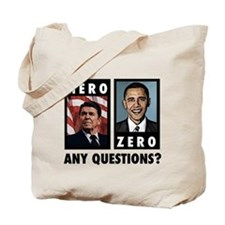 Reagan HERO, Obama ZERO. Any Tote Bag