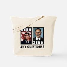 Reagan HERO, Obama ZERO. Any Tote Bag