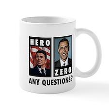 Reagan HERO, Obama ZERO. Any Small Mug