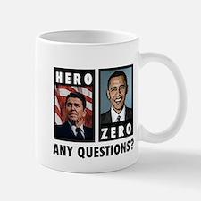 Reagan HERO, Obama ZERO. Any Small Small Mug