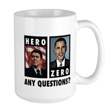 Reagan HERO, Obama ZERO. Any Mug