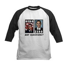 Reagan HERO, Obama ZERO. Any Tee