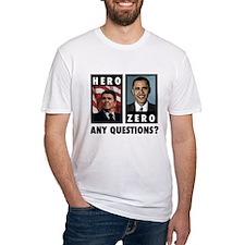 Reagan HERO, Obama ZERO. Any Shirt