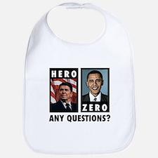 Reagan HERO, Obama ZERO. Any Bib