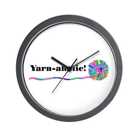 YARNAHOLIC Wall Clock