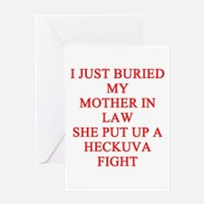mother in law joke Greeting Card