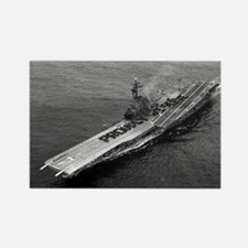 USS Ticonderoga Ship's Image Rectangle Magnet