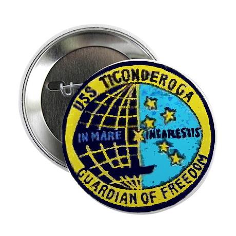USS Ticonderoga CVA 14 Button