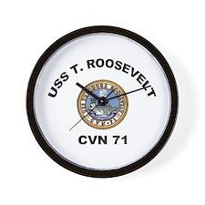 USS Theodore Roosevelt CVN 71 Wall Clock