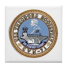 USS Theodore Roosevelt CVN 71 Tile Coaster
