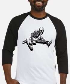 Skeleton Guitarist Jump Baseball Jersey