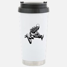 Skeleton Guitarist Jump Stainless Steel Travel Mug
