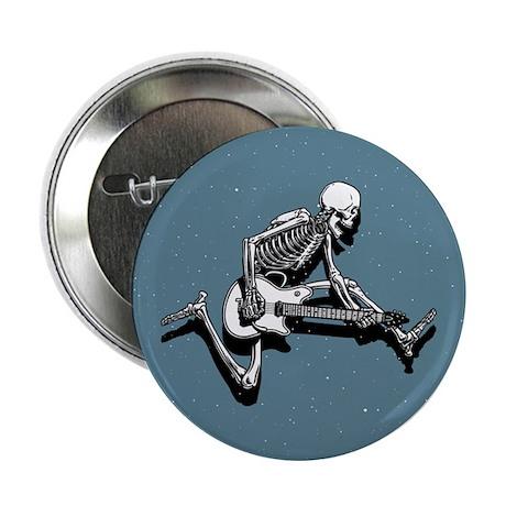"Skeleton Guitarist Jump 2.25"" Button (100 pack)"