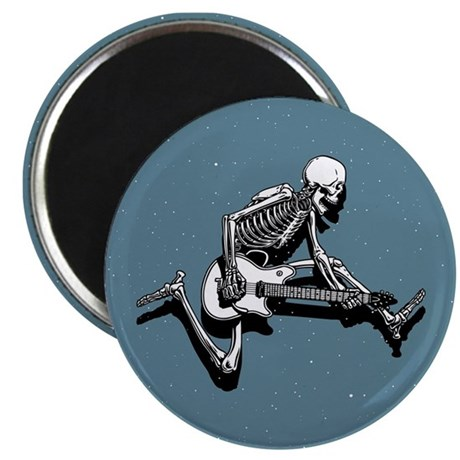 Skeleton Guitarist Jump Magnet