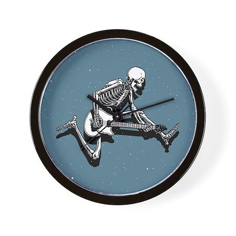 Skeleton Guitarist Jump Wall Clock