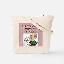 electrician joke Tote Bag