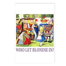 WHO LET BLONDIE IN? Postcards (Package of 8)