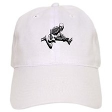 Skeleton Guitarist Jump Baseball Cap