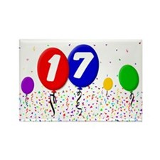 17th Birthday Rectangle Magnet