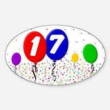 17th Birthday Oval Decal