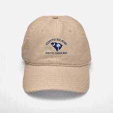 Edisto Beach - Map Design. Baseball Baseball Cap