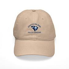 Edisto Beach - Map Design. Baseball Cap
