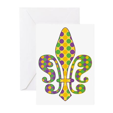 Bead Fleur - Mardi Gras Greeting Cards (Pk of 10)