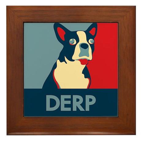 Derp Derp Derp Dog Framed Tile