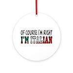 I'm Italian Ornament (Round)