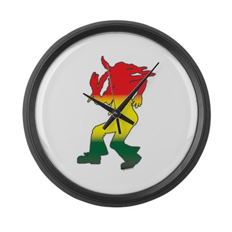 Dancing Rasta Large Wall Clock