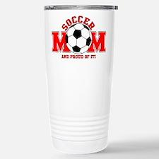 Proud Soccer Mom Stainless Steel Travel Mug