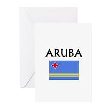 Cute Aruba travel Greeting Cards (Pk of 10)