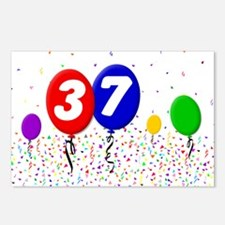 37th Birthday Postcards (Package of 8)
