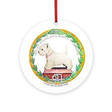 Westie Champion Ornament (Round)