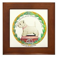 Westie Champion Framed Tile