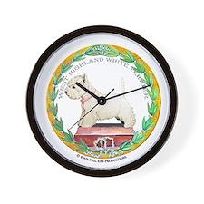 Westie Champion Wall Clock