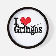 I love gringos Wall Clock