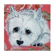 Westie Patience is a Virtue Tile Coaster