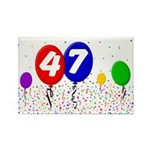47th Birthday Rectangle Magnet (100 pack)