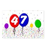 47th Birthday Postcards (Package of 8)