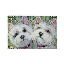 Westie Pair of Pals Rectangle Magnet