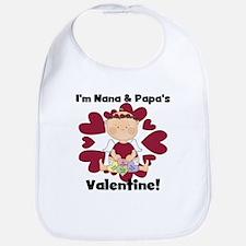 Girl Nana Papa's Valentine Bib