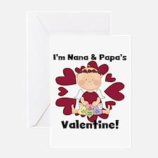 Girl Nana Papa's Valentine Greeting Card