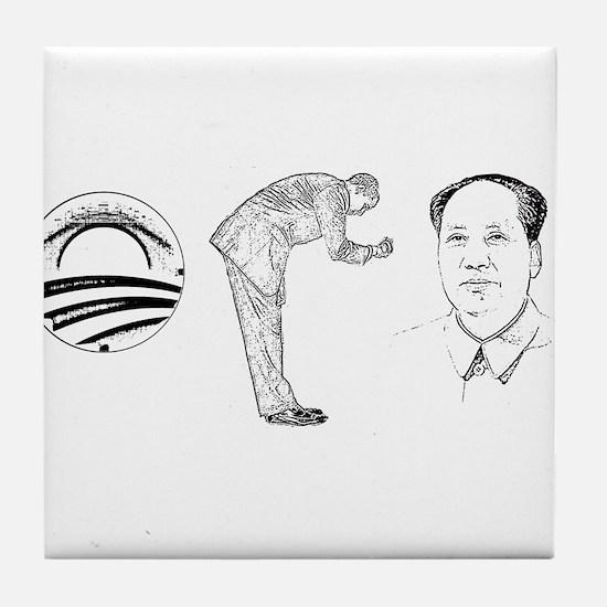 O-Bow-Mao Anti-Obama Tile Coaster