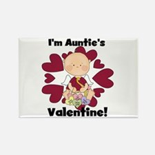 Boy Auntie's Valentine Rectangle Magnet