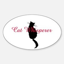 Cat Whisperer Oval Decal