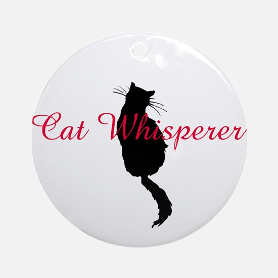 Cat Whisperer Ornament (Round)