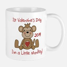 Monkey 1st Valentine Day Mug