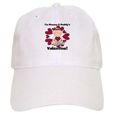 Girl Mommy and Daddy's Valentine Baseball Cap